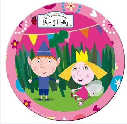 Ben and Holly Party Plates (Small - 8 Pack) 18cm NEW Design