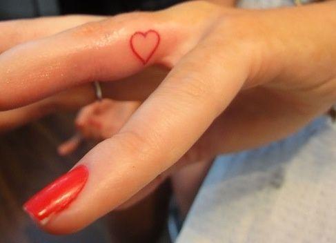 Women Tattoo Tiny Heart Outline Finger Tattoo Heart Tattoo On