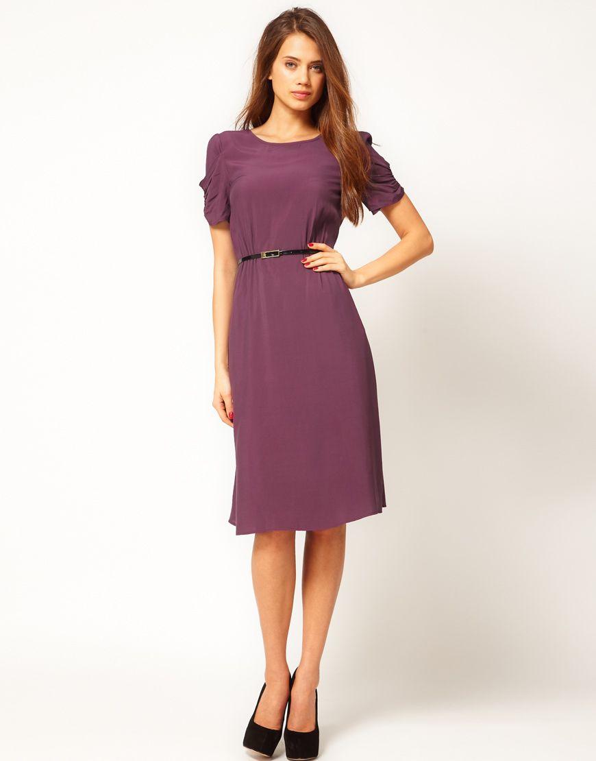 Midi Dress With Back Detail And Belt | Fashion <3 | Pinterest | Midi ...
