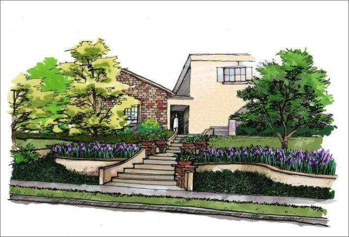 Perspective Drawings Landscape Design Perspective Drawing Landscape Sketch