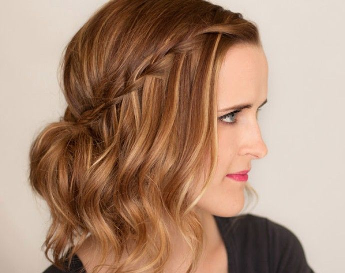 8 Braided Hairstyles For Spring And How To Get Them Waterfall Braid Updo Hair Styles Hair