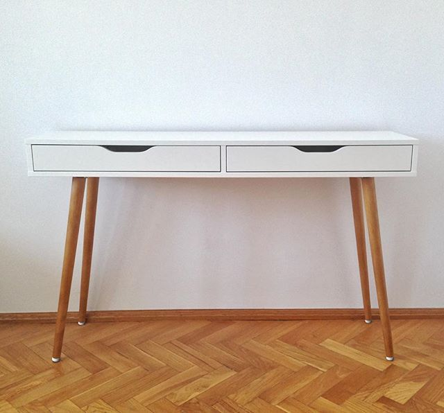 Ikea Hack Ikeahack Table Legs Midcentury Retro Wood Handyman Ikea Alex Desk Ikea Diy Furniture