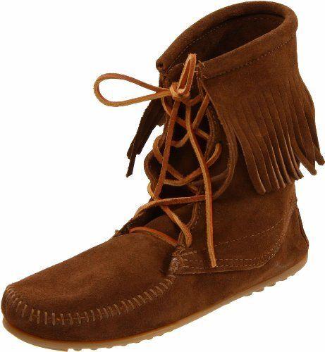 Minnetonka Women S Tramper Ankle Hi Boot Http Www Minnetonka Womens Tramper Ankle Boot Dp B0026mr Fringe Ankle Boots Minnetonka Ankle Boots Boots