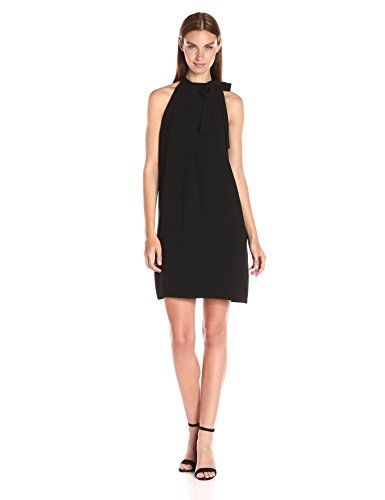 Theory Woman Paneled Guipure Lace, Crochet And Crepe Dress Black Size 0 Theory