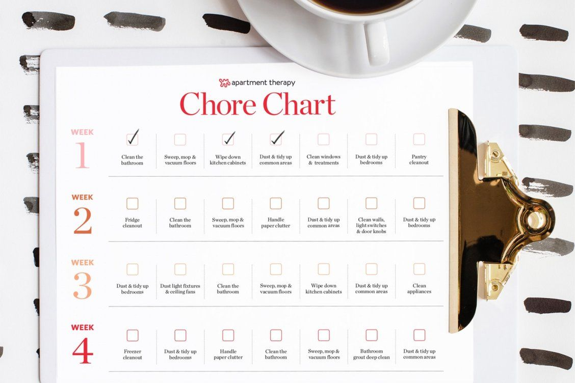 printable chore list for adults