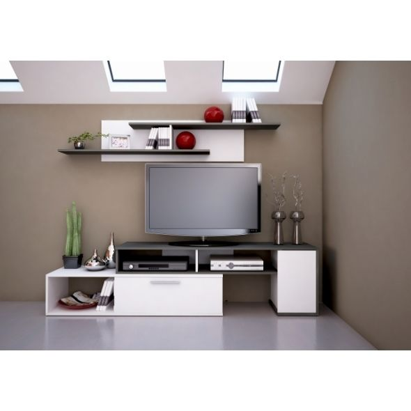 Compacto winn conjunto mueble de salon color y acabado for Mueble compacto tv