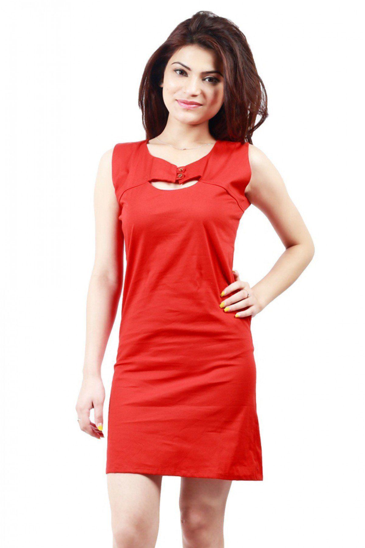 a09e058a2c0 Cotton Valentine Special Designer Western Wear Kurti In Red Colour 6 ...