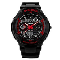 SHOCK Tactical Watch LIMITED TIME ONLY! NOT SOLD IN STORESPlease allow 2-4 weeks for deliveryLimit: 5 Per CustomerFeatures:Auto Date, Perpetual Calendar, Alarm, Water Resistant, Complete Calendar, Multiple Time Zone, Shock Resistant, Stop Watch, Back Light