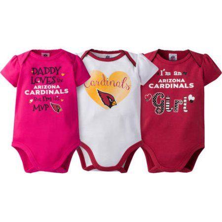 NFL Arizona Cardinals Baby Girls Short Sleeve Bodysuit Set 233fda1f5