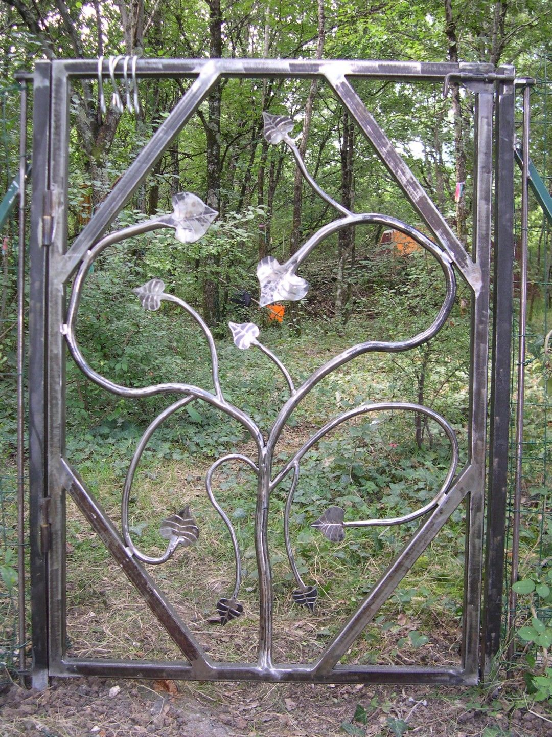 Portillon de jardin en fer forg garden ideas pinterest portillon jardin fer forg and - Portillon jardin ...