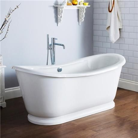 Premier Alice 1750 Double Ended Roll Top Slipper Bath with Skirt