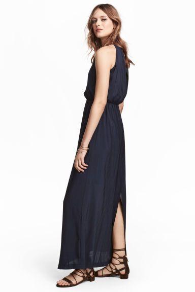 ed88fd0d23e Robe longue - Bleu foncé - FEMME