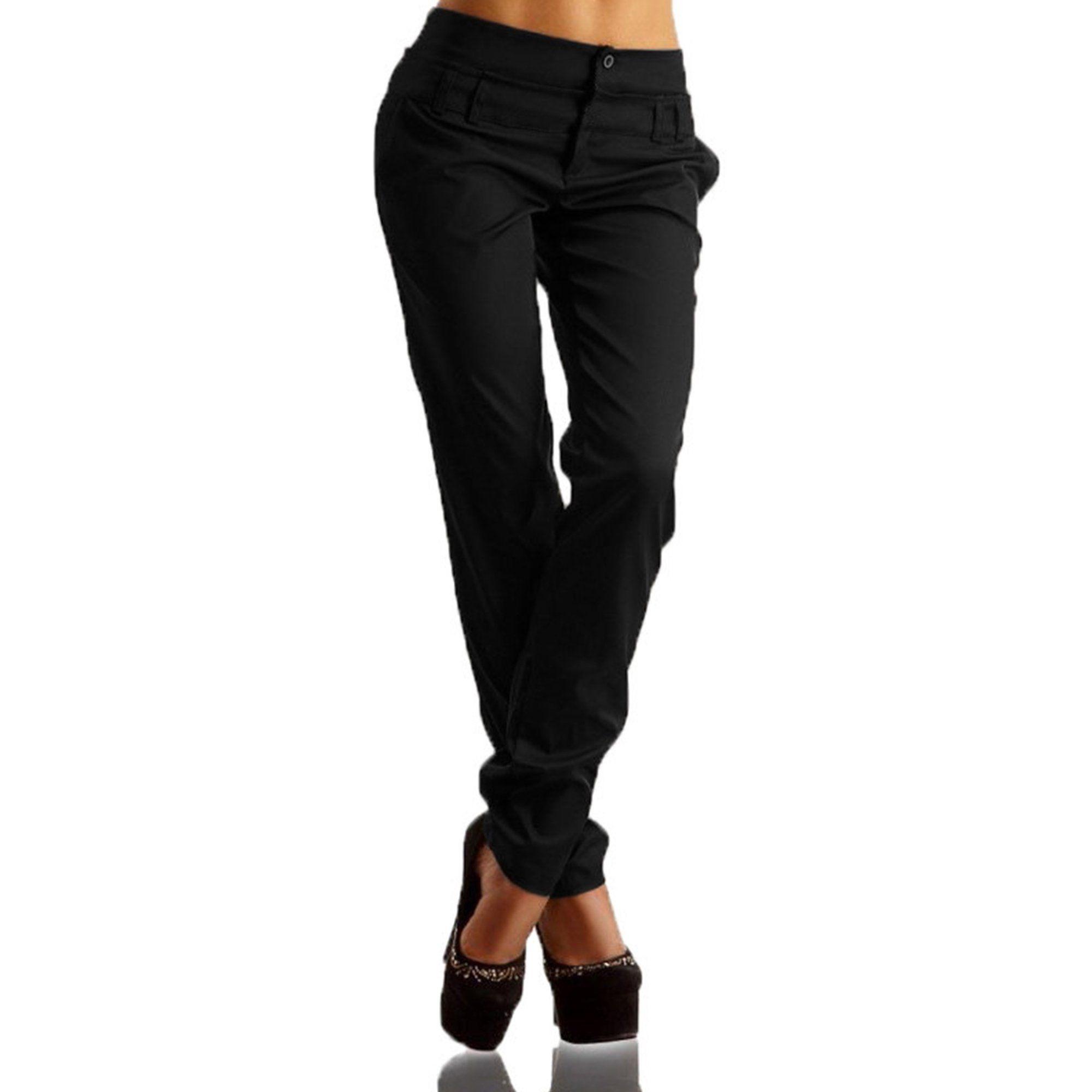 Wodstyle Women S High Waist Buttons Slim Plain Straight Leg Casual Long Pants Walmart Com Womens Long Pants Pants For Women Solid Color Pants [ 2000 x 2000 Pixel ]