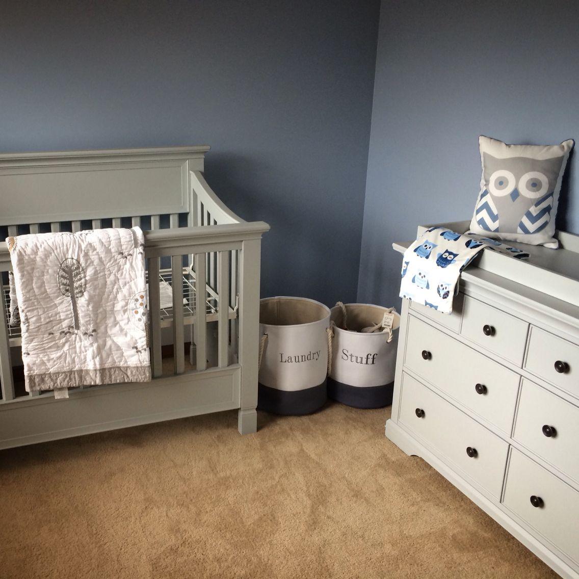 Baby cribs pottery barn - Pottery Barn Larkin Crib And Dresser And Woodlands Nursery Quilt Owl Nursery