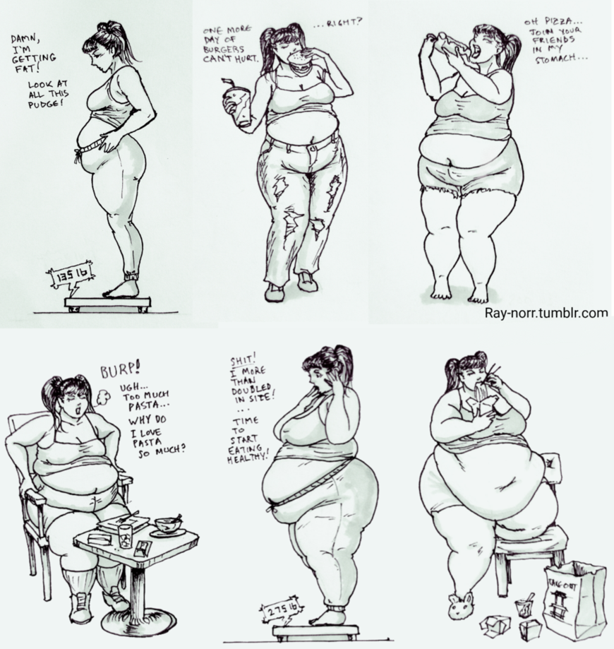 The Weight Gain of Jenny Weng, pt 1 by Ray-Norr on DeviantArt
