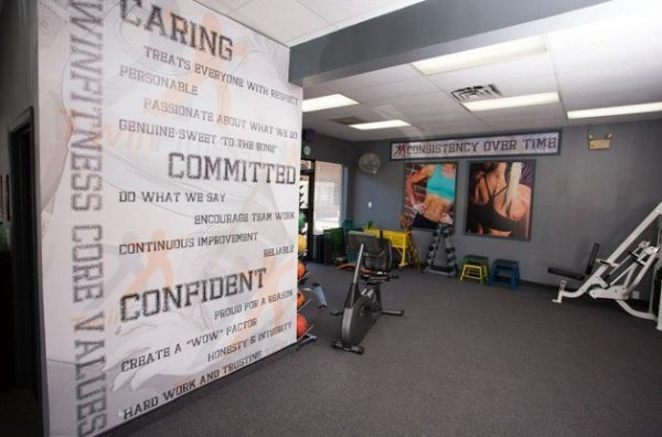 Design your own wall mural for the home gym Home gym