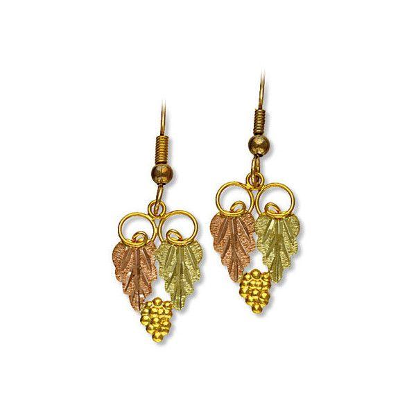 Landstroms Black Hills Gold Dangle Earrings For Pierced Ears 01294 Via Polyvore