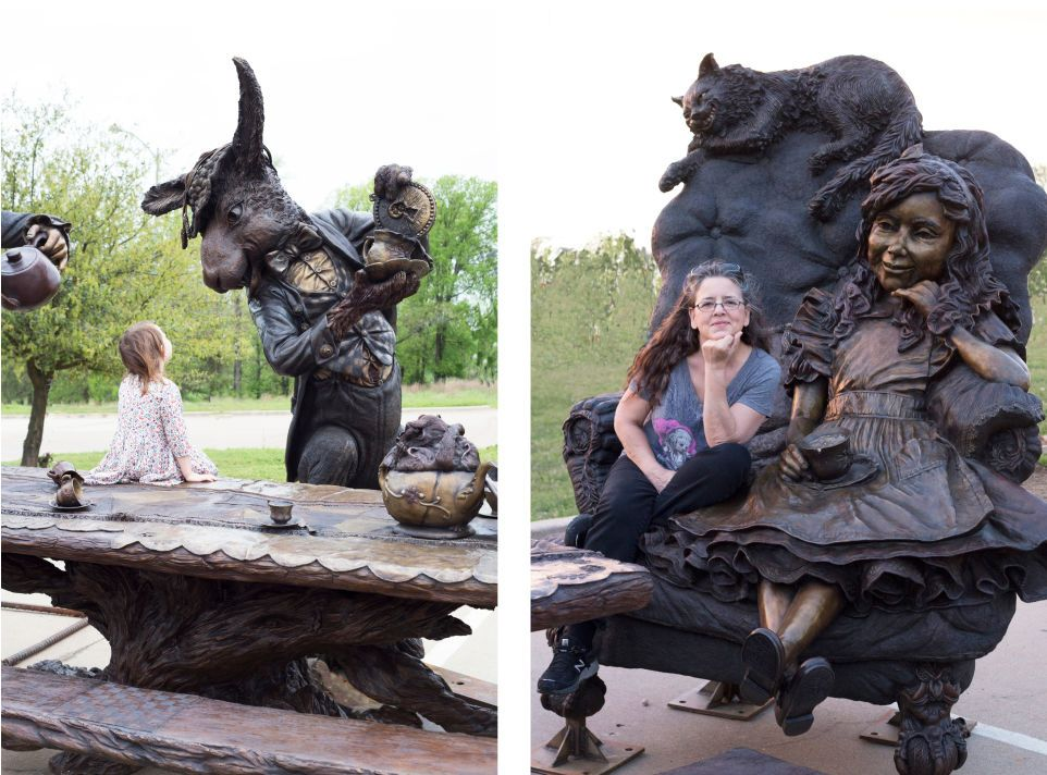An Interactive Alice In Wonderland Sculpture Arrives At 400 x 300