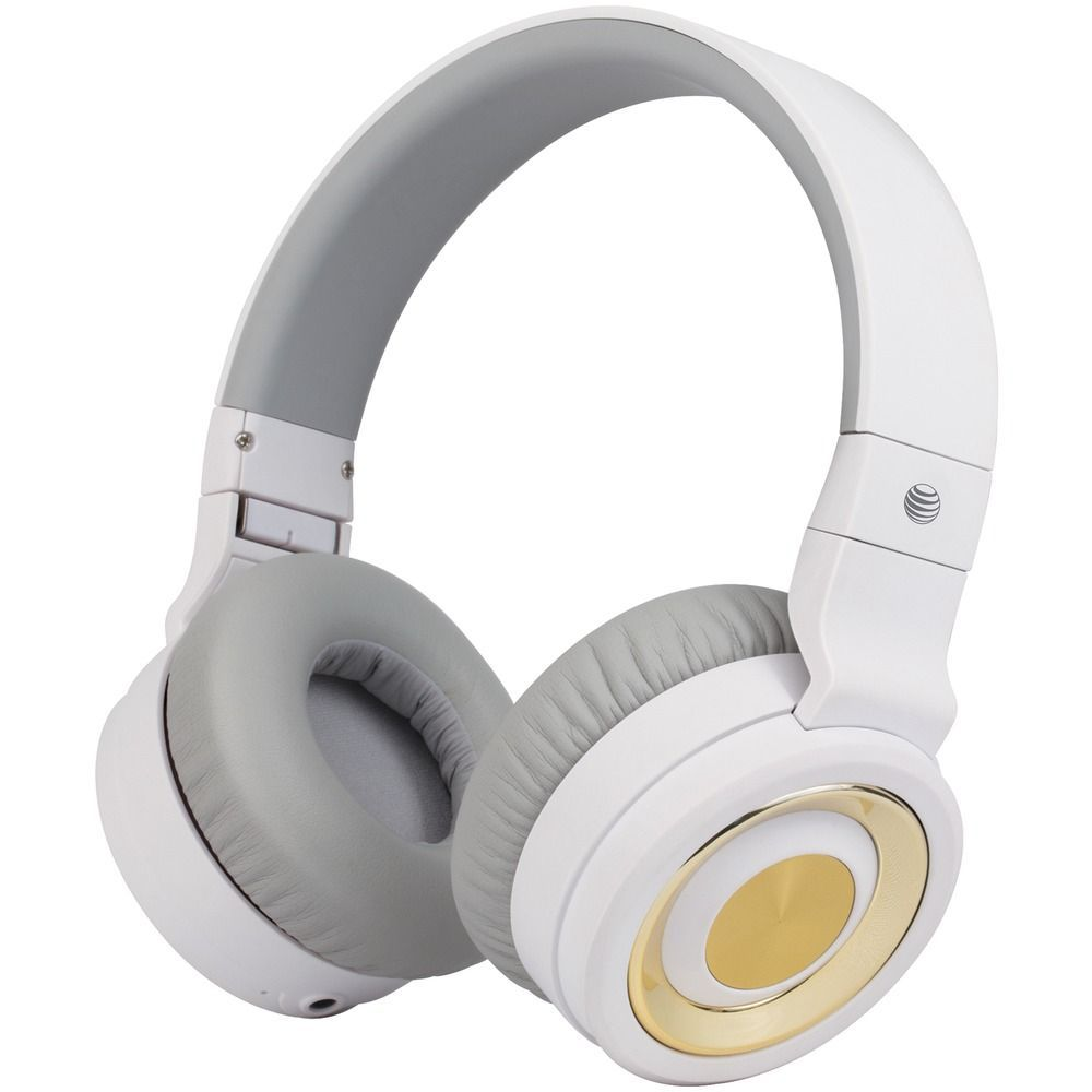 At T R Pbh20 Wht Pbh20 Stereo Over Ear Headphones With Bluetooth R White Audioheadphones At T R Pbh20 Over Ear Headphones Headphones Neckband Headphones