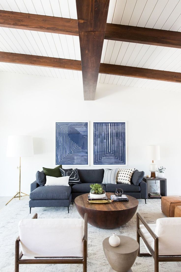 Mid-Century Modern Project Reveal | Pinterest | Modern living room ...