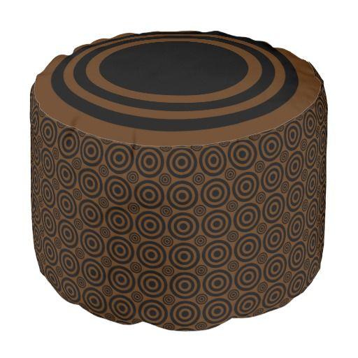 Target Bullseye Black And Brown POUF SEAT Zazzle Designer Pouf Fascinating Gold Pouf Target