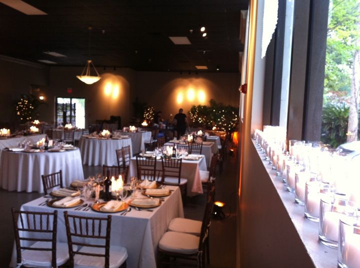 Seating with Square and Round Tables, and Lots of Candles!