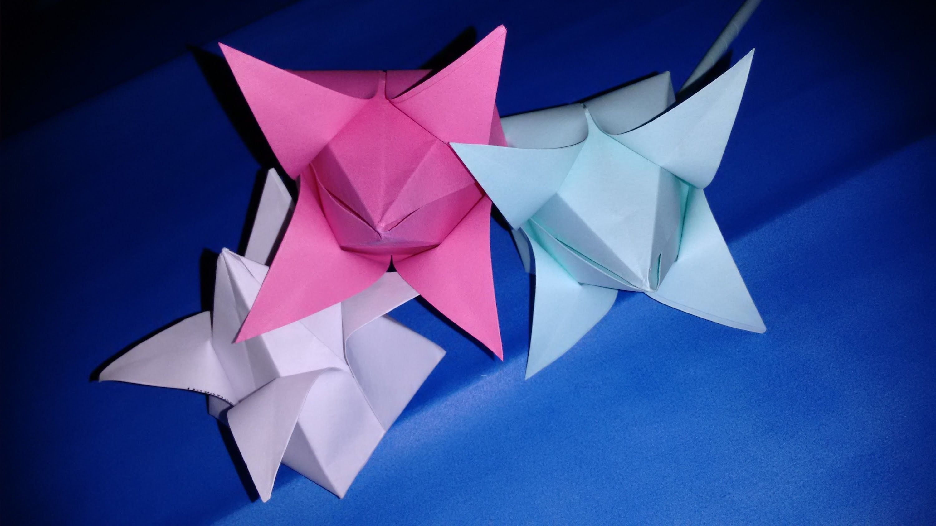 How To Make Lotus Flower By A4 Size Paper Diy Origami Art