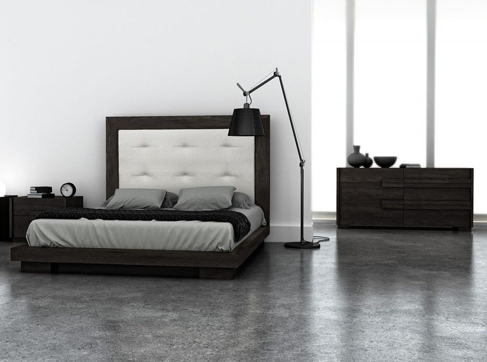 This Folk platform base bed by Huppe
