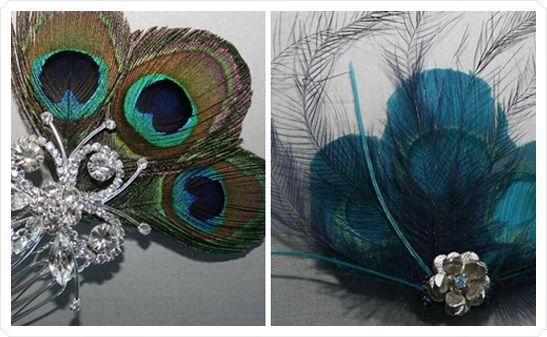 some ideas for pretty things for bridesmaidies hair peacock wedding hair accessories from popular