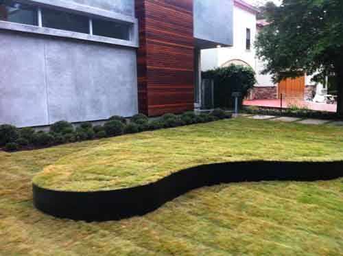 A landscape grade is an artificial slope created in a yard ...
