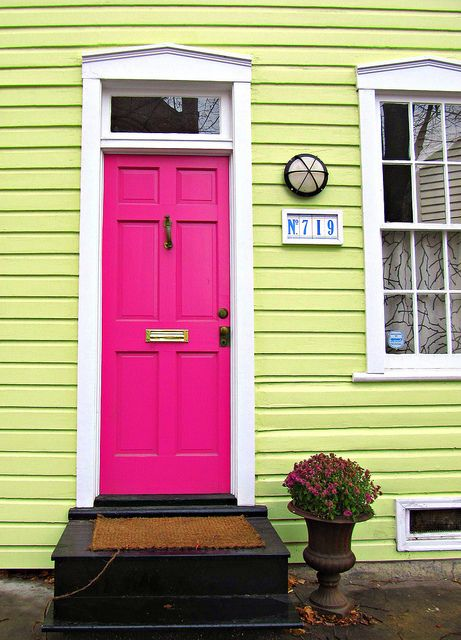 Sensational Color Combos Hot Pink And LemonLime! From FrontDoorFreak.com