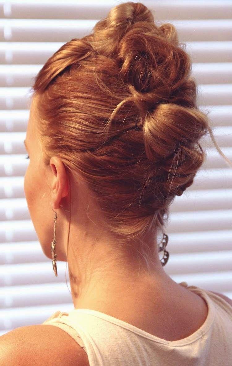 Coiffure Faux hawk femme mettez votre chevelure longue en