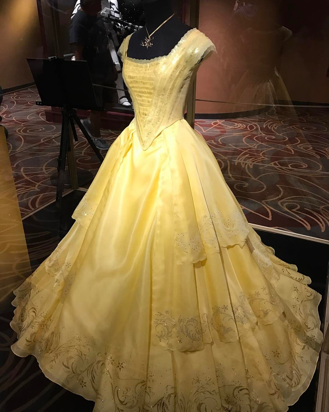 Belle's Dress And The Enchanted Rose Are On Display At The