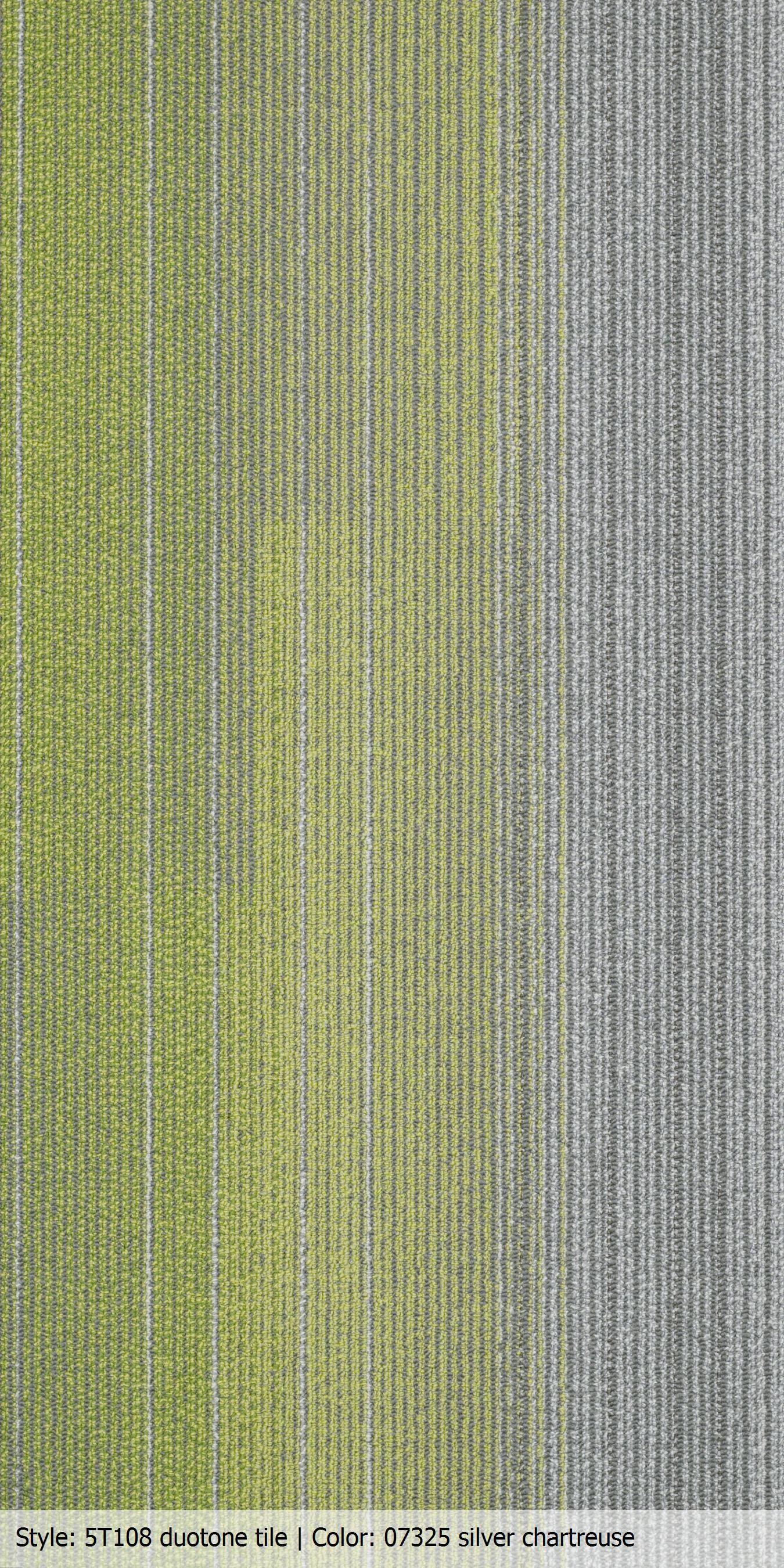 Carpet Tile 18x36 Duotone Color Silver Chartreuse Http