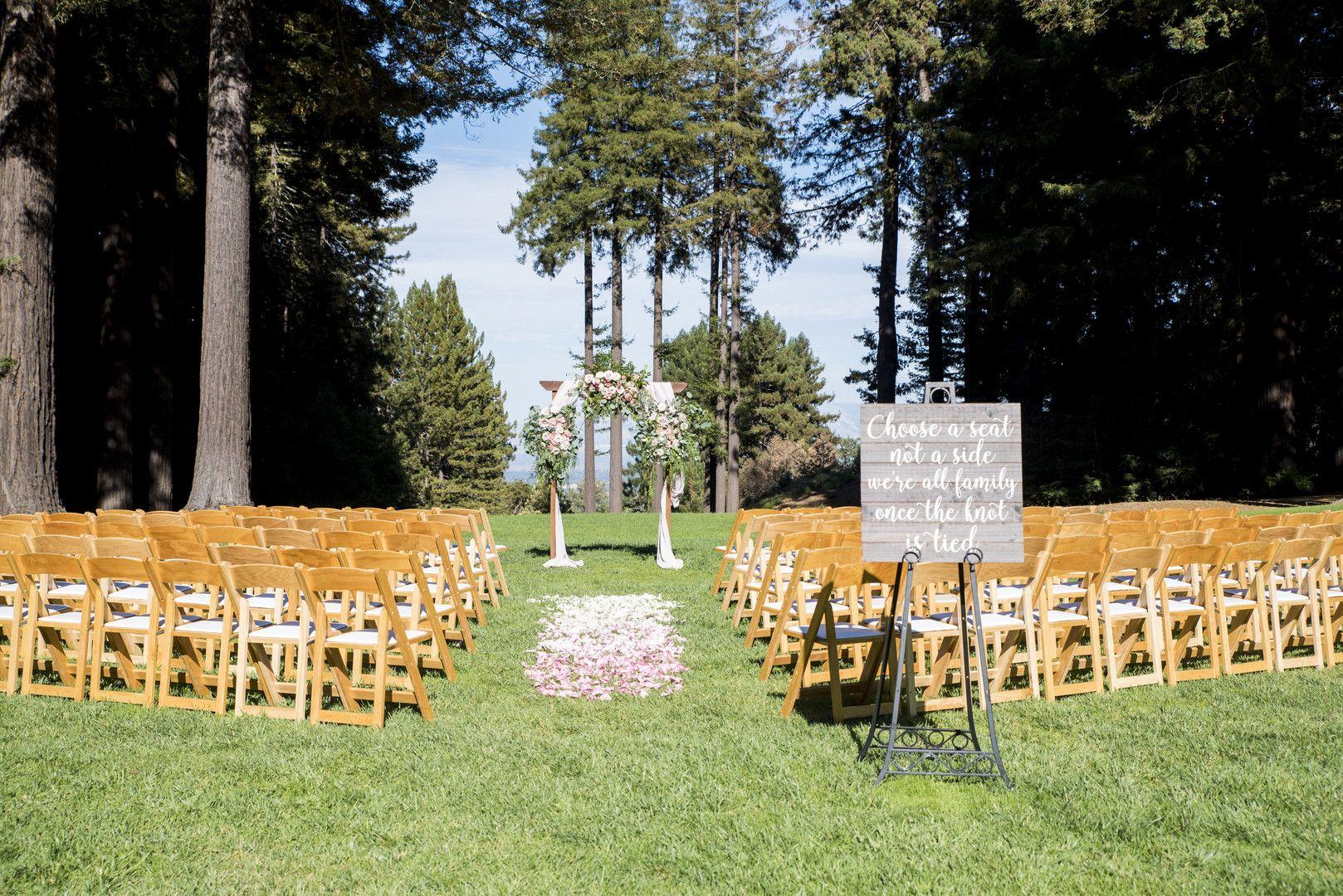 Garden wedding at the Mountain Terrace in Woodside