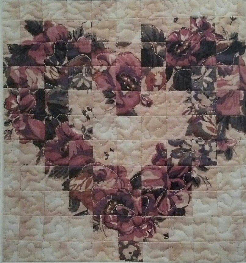 Floral Heart From The Book Quick Watercolor Quilts Heart Quilt