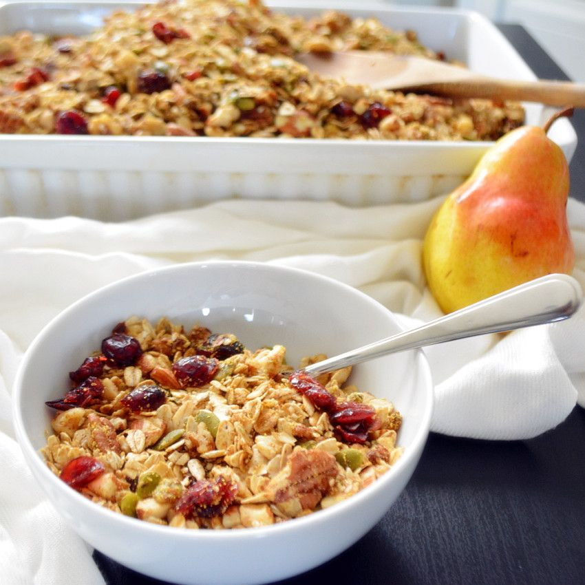 Fallspice granola recipe granola healthy fall spices