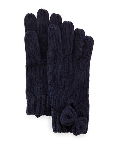 D107F kate spade new york gathered bow knit gloves