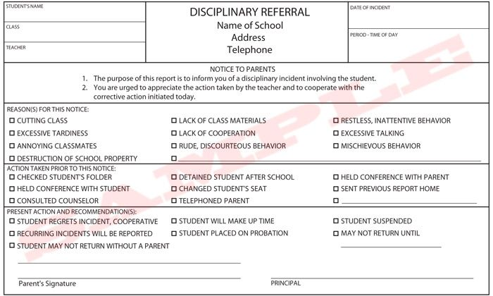 school disciplinary form google search school forms pinterest