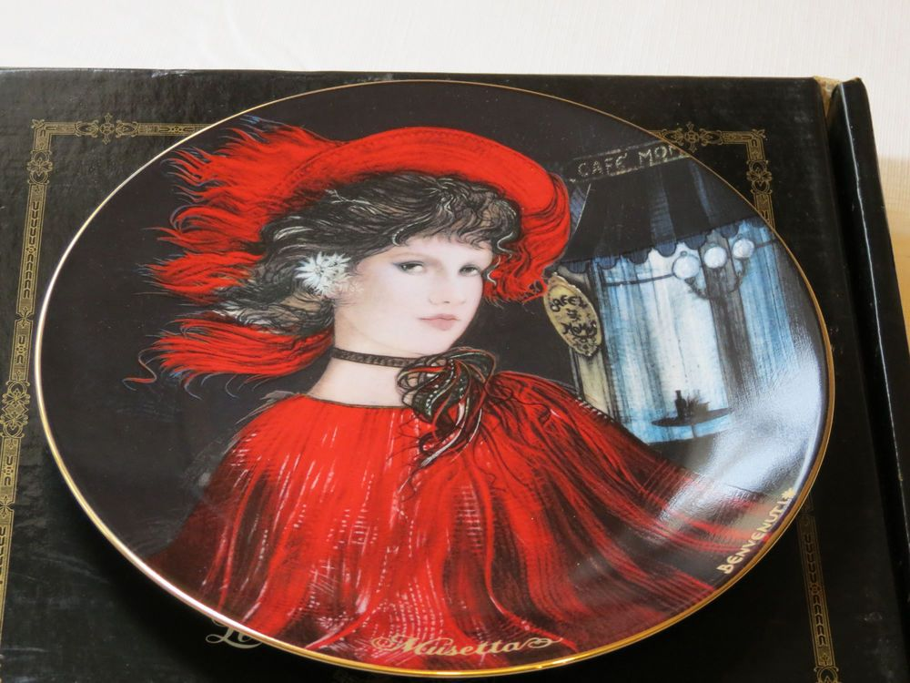 Musetta collector plate 38-P63-1.1 1986 COA Box Riccardo Benvenuti Bradford #% #CollectorPlates
