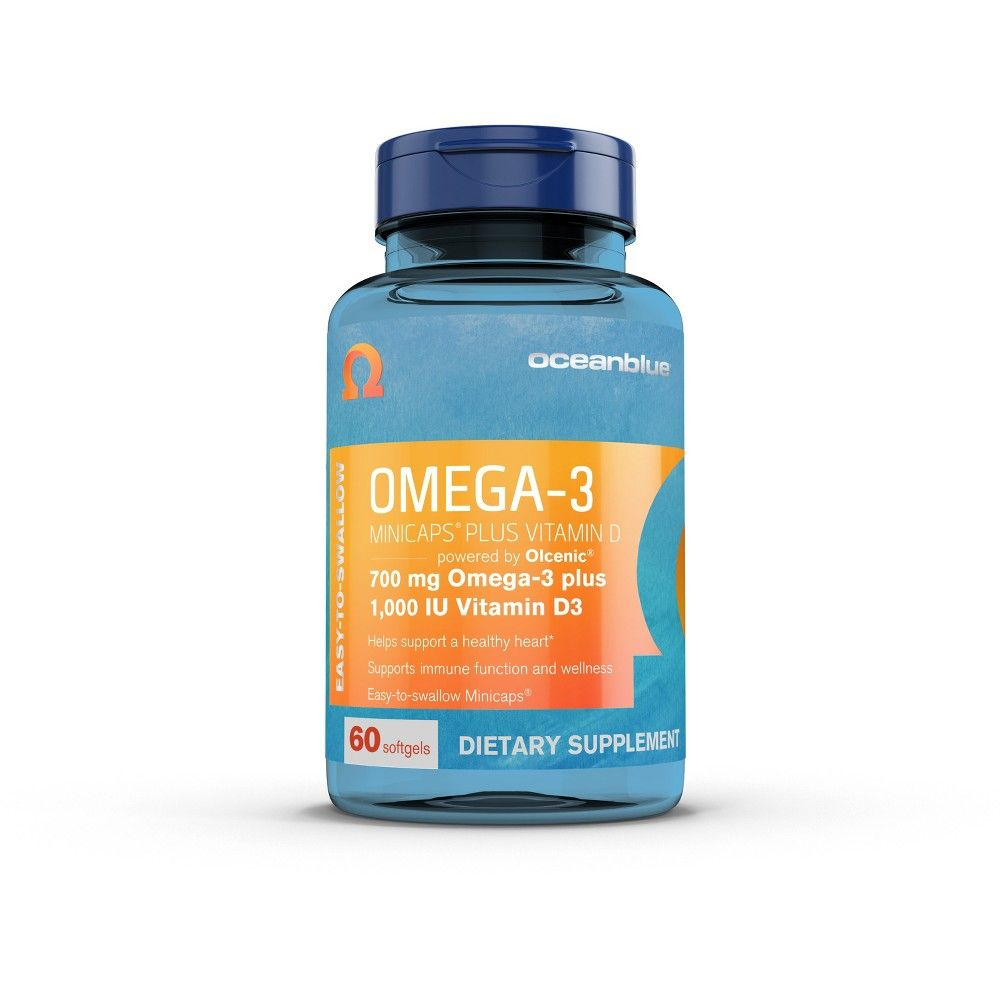 Oceanblue Omega 3 Plus Vitamin D Minicap Softgels 60ct Vitamin D Vitamins Omega 3