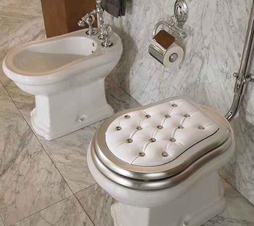 Toilet Seat Cover White Luks Mutfaklar Luks Banyolar