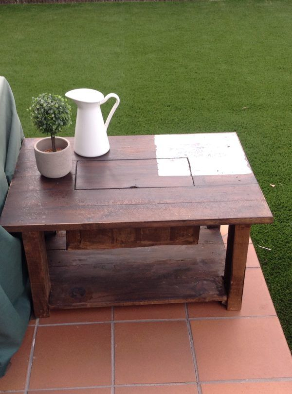 Pallet Coffee Table With Recessed Ice Chest Table Home Decor Decor