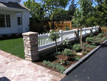 Yard+Fence+Ideas - Kids love to play ball in the front yard. This fence will keep the ...