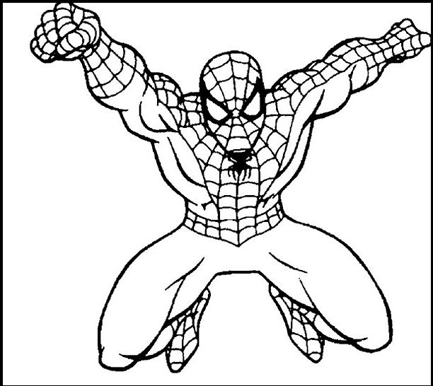 Spiderman The Dashing coloring picture for kids Spiderman - fresh spiderman coloring pages for toddlers