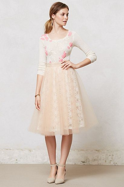 9acaed0aaa72 Aurelie Tulle Skirt #anthropologie. Want this skirt now!!! Could  anthropologie stuff get any cuter!?