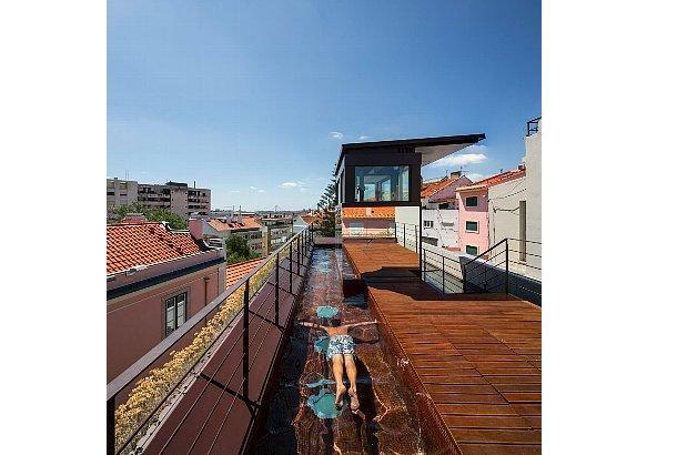 屋上プール 縦長ぁ 屋上プール 建築物 屋上