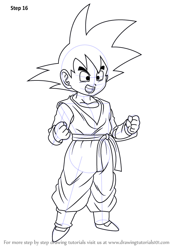 Learn How To Draw Son Goten From Dragon Ball Z Dragon Ball Z Step By Step Drawing Tutorials In 2020 Dragon Ball Z Dragon Ball Goku Drawing