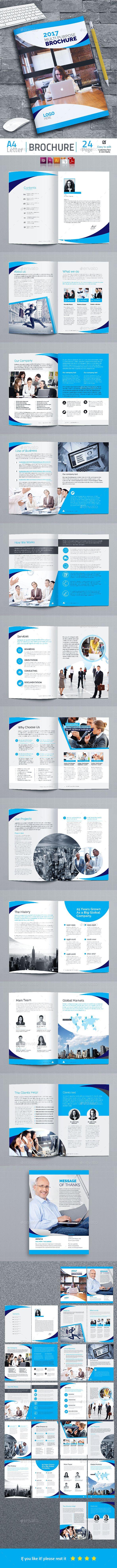 Brochure Template Vector EPS, InDesign INDD, AI Illustrator ...