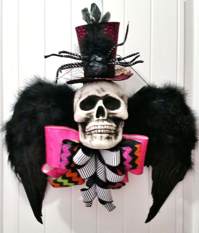 Halloween Wreath, Scary Halloween, Halloween Skull